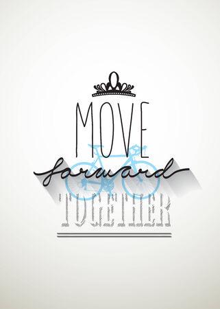 typo: Move forward typo vector Illustration