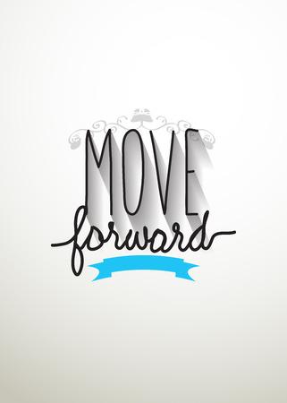 Move forward typo vector Vector