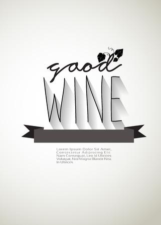 good wine typo vector, EPS 10 Vector