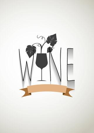 wine typo vector Vector