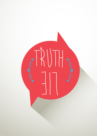 truths: Quote Typographic Background truth & lie Illustration