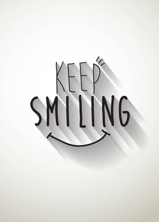 typo: keep smiling typo vector
