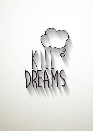 typo: kill dreams typo vector