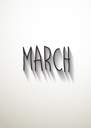 typo: march typo with shadow vector