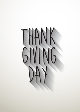 thank giving day typo with shadow vector Vector