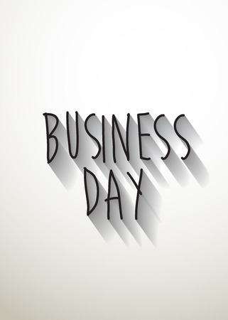 typo: business day typo with shadow vector Иллюстрация