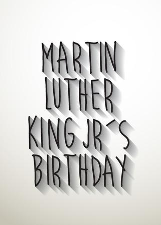 martin: Martin Luther King Jr literówka z cienia urodziny wektor Ilustracja