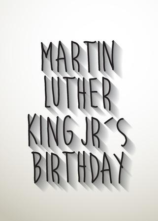 jr: martin luther king jrs birthday typo with shadow vector