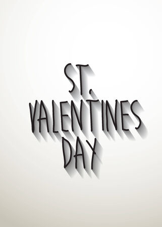 typo: st. valentines day typo with shadow vector