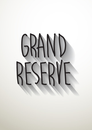reserve: grand reserve typo with shadow vector