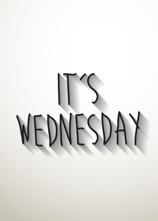 wednesday: its wednesday typo with shadow vector