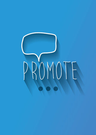 promote: promote typo with shadow vector,Eps 10 Illustration