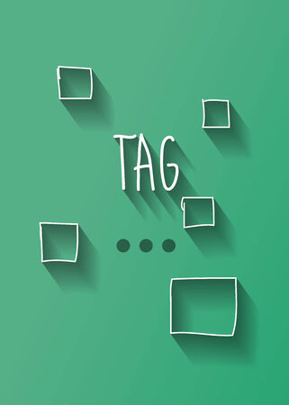 typo: tag typo with shadow vector
