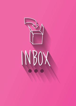 inbox typo with shadow vector