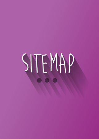 sitemap typo with shadow vector Illustration