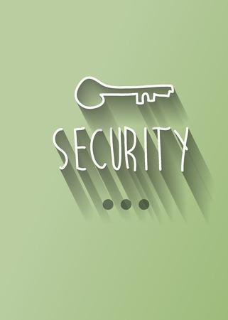 security typo with shadow vector Vector