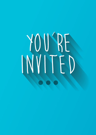 invited: youre invited typo with shadow vector, wedding theme