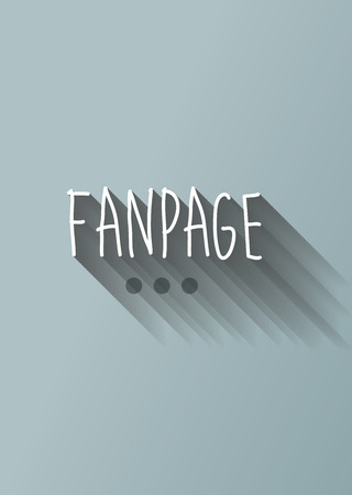 fanpage: fanpage typo with shadow vector Illustration