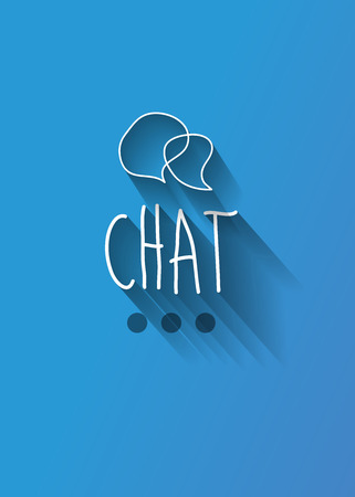 www community: chat typo with shadow vector Illustration