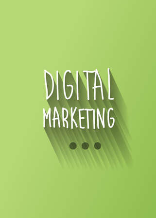 online advertising: digital marketing typo with shadow vector