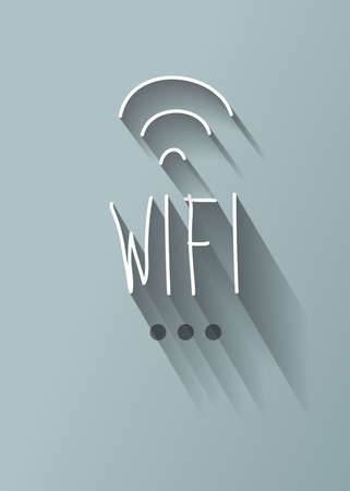 typo: wifi typo with shadow vector