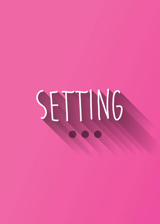 www community: setting typo with shadow vector Illustration