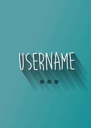 username: username typo with shadow vector Illustration
