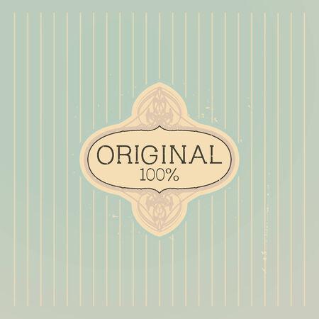 Old label vector design  Vector