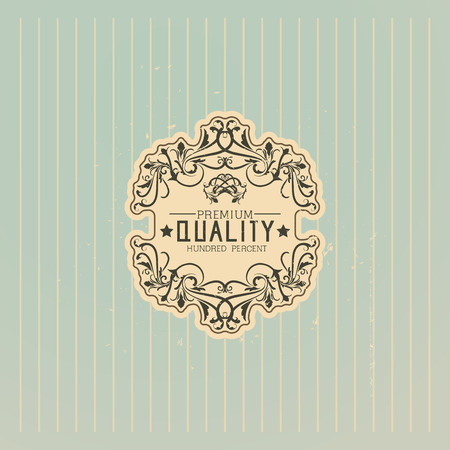 vintage pattern background: Old label vector design
