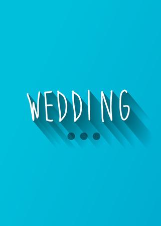 typo: wedding typo with shadow vector, wedding theme