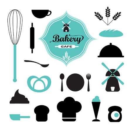 chef hat: Bakery set Illustration