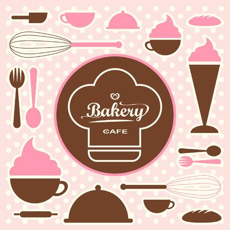 Bakery set vector 0065 Vector