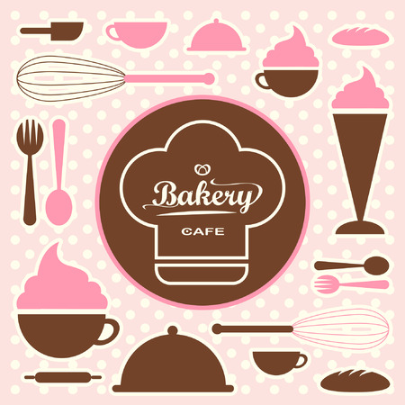 Bakery set vector 0065 Vector