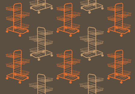 handcart: Pattern handcart vector Illustration
