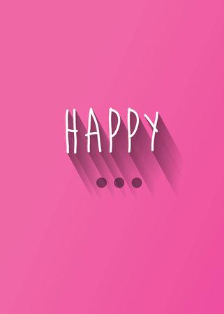 """rallas: Tipografía """"feliz"""" con la sombra vector, EPS 10"""