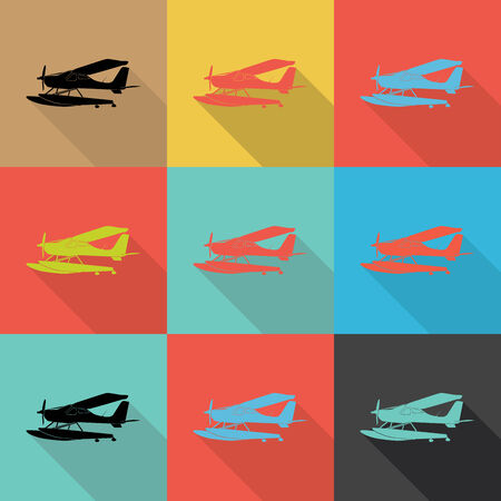 wrapped corner: airplane, Flat design vector,Eps 10