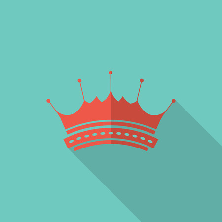 royal rich style: Crown icon, flat design vector