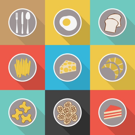 frozen meat: Food icon set, Eps 10 Illustration