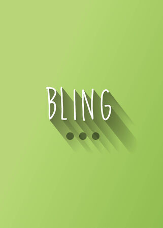 trinket: bling typography with shadow vector, Eps 10