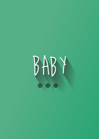felicitation: baby typography with shadow vector, Eps 10