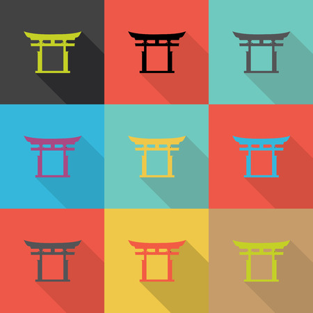on decorate mobile telephone: japan traditional, Flat design vector,Eps 10