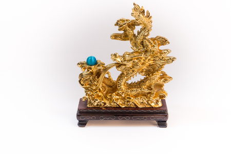 represent: a figure represent chinese new year in the year of dragon with word represent long live, prosper and good luck