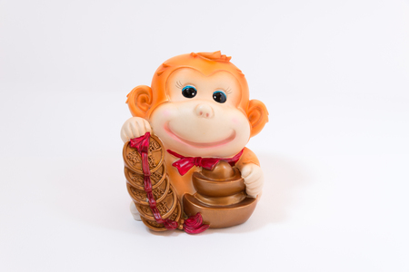 prosper: a figure represent chinese new year in the year of monkey with word represent long live, prosper and good luck Stock Photo