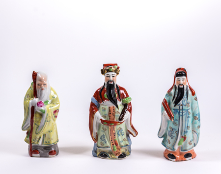 prosper: A figure of traditional chinese god represent long live, prosper and good luck Stock Photo