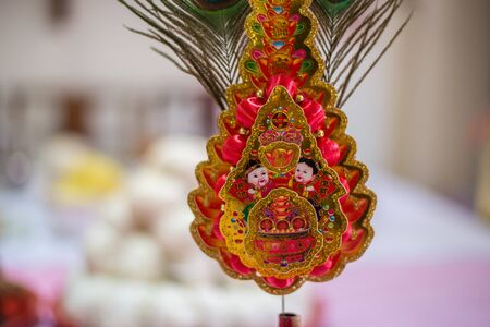 newyear: A table feast  and prop on chinese newyear to respect the ancestor and celebrate the new year to come.