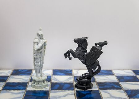 harry: A pieces of chess character on the board with a light. A character represents strategy, planning, brave, betrayal, confrontation and competition.