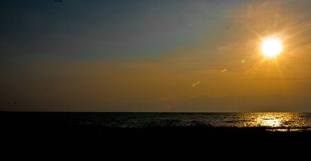 Lake Tanganyika at sunset Stock Photo
