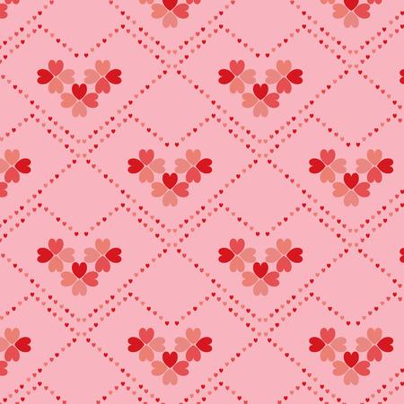Heart flower shape vector seamless pattern Vector