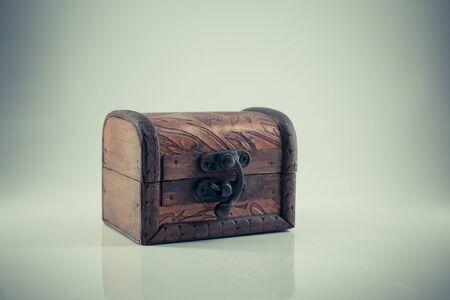 vintage wooden chest photo
