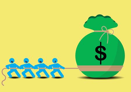 Pull Money Business Tug of War